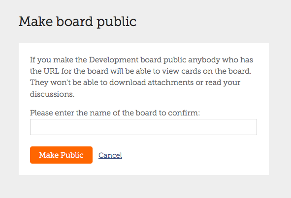 Making a board publicly visible