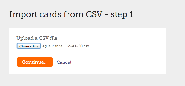 Upload stories in CSV file